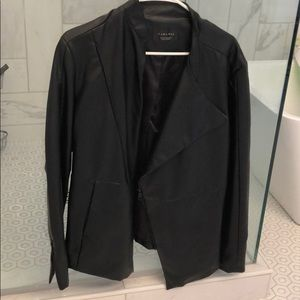 Zara genuine leather jacket-mens